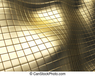 golden tiles - abstract 3d illustration of golden tiles...