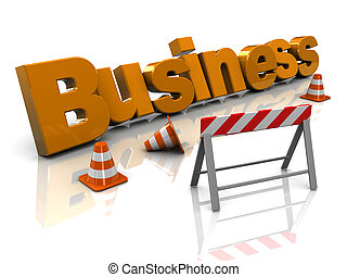 business construction - abstract 3d illustration of text...