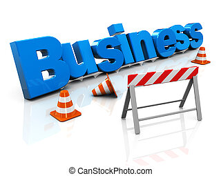 building business - 3d illustration of business under...
