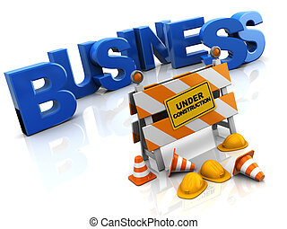 business construction - abstract 3d illustration of building...