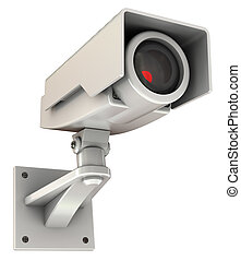 security camera - 3d illustration of security camera with...
