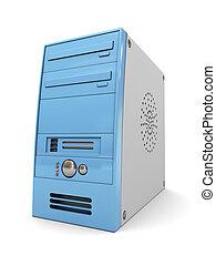 computer case - 3d illustration of desktop computer case,...