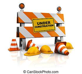 under construction - 3d under construction illustration