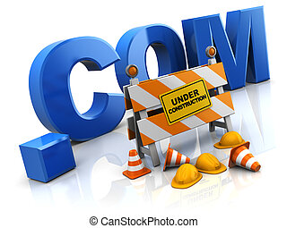 internet site under construction - 3d illustration of...