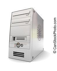 computer case - 3d illustration of desktop computer case...