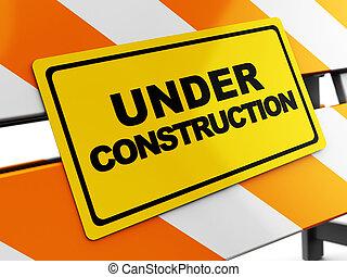 under construction - 3d illustration of under construction...