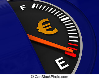 fuel meter with euro sign