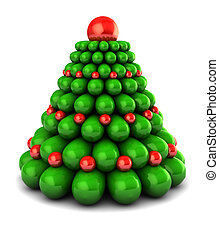 abstract xmas tree - abstract 3d illustration of stylized...
