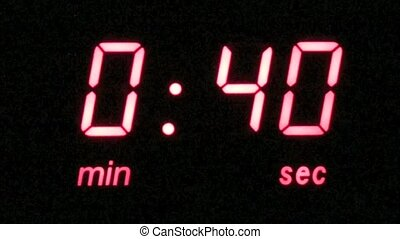 45 second countdown timer - Digital timer with a 45 second...
