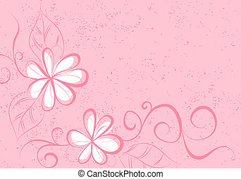 Floral background (some flowers on pink background)