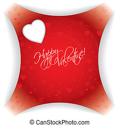 Abstract valentine day card