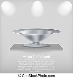 vector shelf with a tray. Background. Best choice