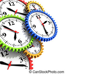 time - abstract 3d illustration of background with clock...