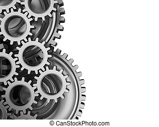 gear wheels background - abstract 3d illustration of gear...