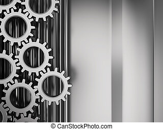 manufacturing background - abstract 3d illustration of metal...