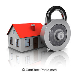 house and combination lock