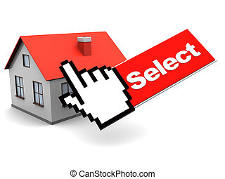 house and mouse cursor