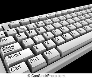 computer keyboard - 3d illustration of computer keyboard...