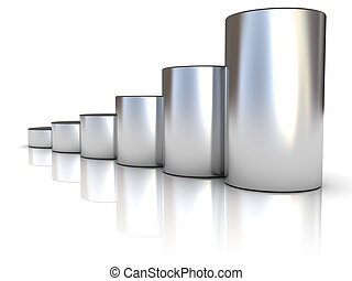 steel raising charts - abstract 3d illustration of steel...