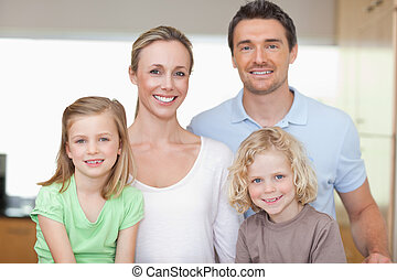 Cheerful family in the kitchen - Cheerful family together in...