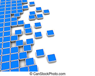 abstract blocks background - abstract 3d illustration of...