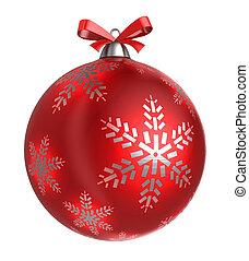christmas ball - 3d illustration of christmas ball, isolated...