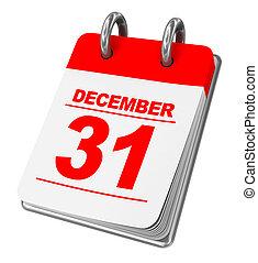 calendar - 3d illustration of calendar isolated over white...