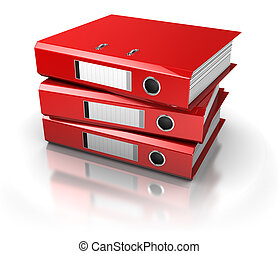 documents archive - documents folders over white background