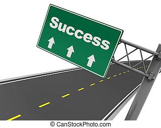 éxito, camino, señal