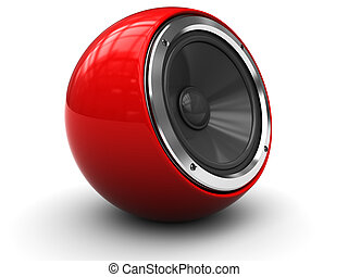 modern speaker - 3d illustration of modern audio speaker...