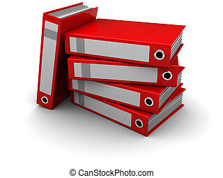 archive folders - 3d illustraton of archive folders over...