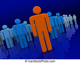 business team - abstract 3d illustration of business team...