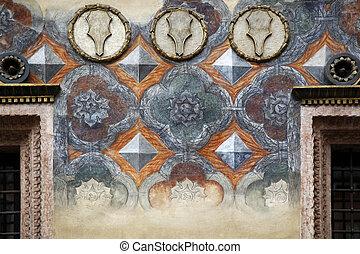 Facade Piazza dei Signori Verona - a renaissance facade of a...