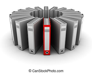 archive folders - 3d illustration of archive folders with...