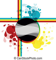 abstract colored background - illustration of abstract...