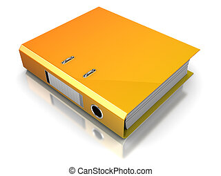 binder - 3d illustration of binder folder over white...