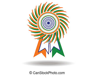 Beautiful batch of Indian National flag. Vector Illustration.