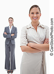Portrait of smiling businesswomen posing