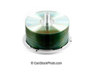 CD Spindle - a CD Spindle over awhite background