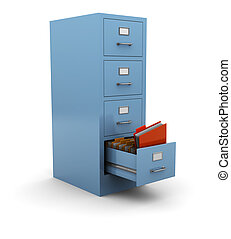 information search - 3d illustration of searching folder in...