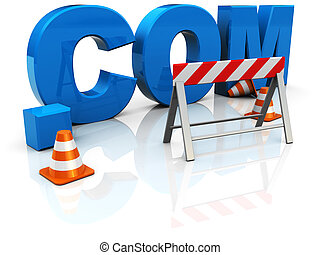 web construction - 3d illustration of text com...