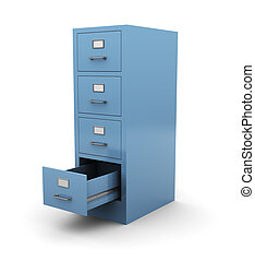 3d drawer - 3d illustration of opened drawer over white...
