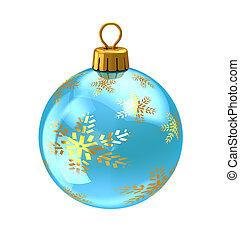 christmas ball - 3d illustration of christmas ball,light...