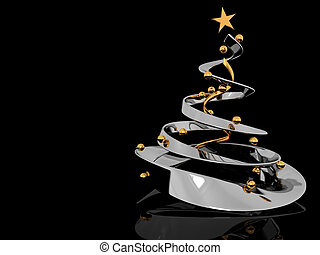 cristmas tree background - abstract 3d illustration of...