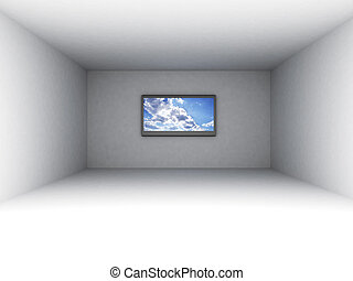 empty room with tv