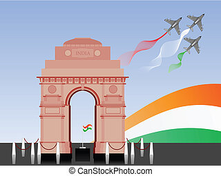 Vector illustration of Republic Day and Independence Day. -...