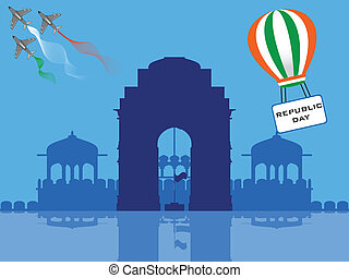 Vector illustration of Republic Day . - Vector illustration...
