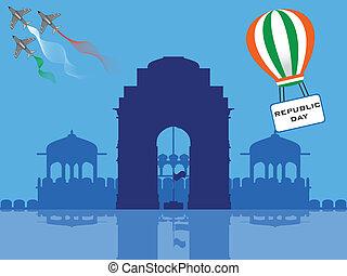Vector illustration of Republic Day . - Vector illustration...