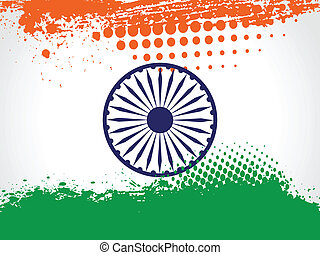 Vector illustration of decorative Indian National Flag .