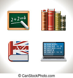 Vector school icons Part 2 - Set of the school and education...